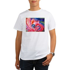 Falmingo, colorful, bird, art, Organic Men's T-Shirt