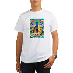 Blue Buddha Ash Grey Organic Men's T-Shirt