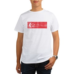 Singapore Flag Organic Men's T-Shirt