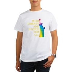 RAINBOW LIBERTY Organic Men's T-Shirt