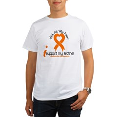 With All My Heart Leukemia Organic Men's T-Shirt