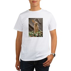 Christmas Bunny Organic Men's T-Shirt