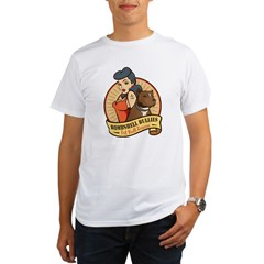 Large Pinup and dog logo NO SHADING Organic Men's T-Shirt