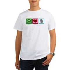 Peace Love CSI: Miami Organic Men's T-Shirt