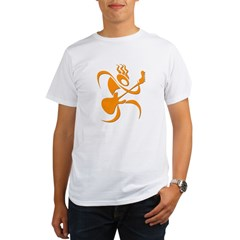 guitar_reg_orange.jpg Organic Men's T-Shirt