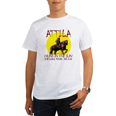 Attila 'Huns in the Sun' tour Ash Grey Organic Men's T-Shirt