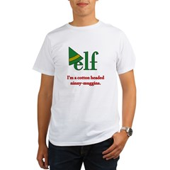 Elf Ninny-Muggins Organic Men's T-Shirt