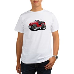 Jeep Red Organic Men's T-Shirt