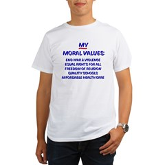 My Moral Values Ash Grey Organic Men's T-Shirt