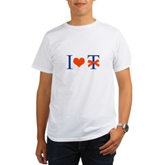 I Love T-Bow - Organic Men's T-Shirt