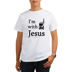 'I'm With Jesus' Ash Grey Organic Men's T-Shirt