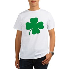 St. Patrick's Day Shamrock Ash Grey Organic Men's T-Shirt