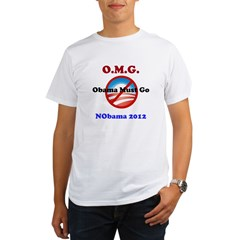 OMG Obama Must Go Organic Men's T-Shirt