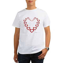 Heart Of Hearts Organic Men's T-Shirt