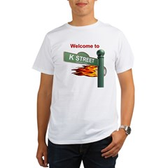 Welcome to K Street Ash Grey Mens Organic Men's T-Shirt