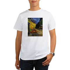 Van Gogh Cafe Terrace At Night Organic Men's T-Shirt