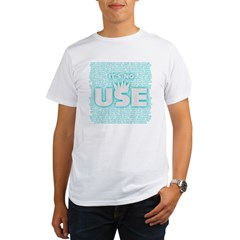 SOS10 - 'It's No Use' Fitted Organic Men's T-Shirt