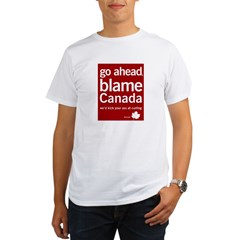 Blame Canada Ash Grey Organic Men's T-Shirt