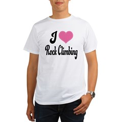 I Love Rock Climbing Organic Men's T-Shirt