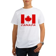 Canadian Flag Ash Grey Organic Men's T-Shirt
