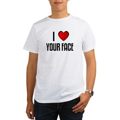 I LOVE YOUR FACE Organic Men's T-Shirt
