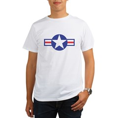 US USAF Aircraft Star Ash Grey Organic Men's T-Shirt
