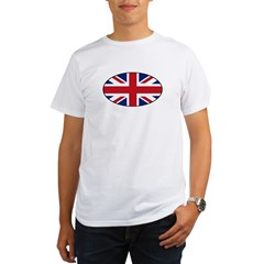 UK (Union Jack) Flag in Oval Organic Men's T-Shirt