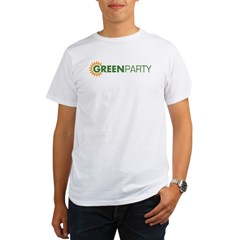 Green Party Logo (sunflower) Ash Grey Organic Men's T-Shirt