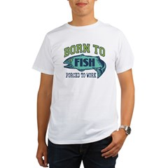 Fishing Ash Grey Organic Men's T-Shirt
