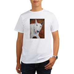 A Bull Terrier Ash Grey Organic Men's T-Shirt