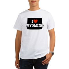 I Love Wyoming Ash Grey Organic Men's T-Shirt