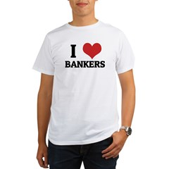 I Love Bankers Ash Grey Organic Men's T-Shirt