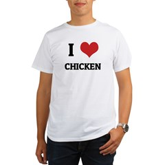 I Love Chicken Organic Men's T-Shirt