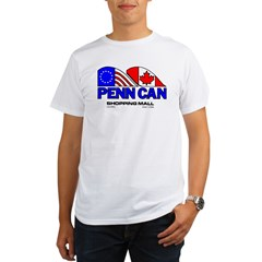 Penn Can original logo Ash Grey Organic Men's T-Shirt
