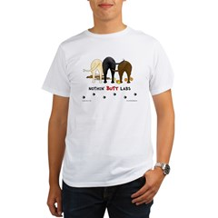 Labrador Butts with Sticks/Balls Ash Grey Organic Men's T-Shirt