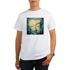 Tiled Buddha Ash Grey Organic Men's T-Shirt