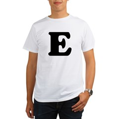 Large Letter E Ash Grey Organic Men's T-Shirt