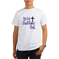 Awesome God Ash Grey Organic Men's T-Shirt
