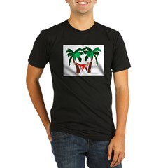Macaw in Palms Organic Men's Fitted T-Shirt (dark)