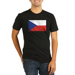 Czech Republic / Czech Flag Organic Men's Fitted T-Shirt (dark)