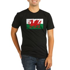 Wales Fla Organic Men's Fitted T-Shirt (dark)