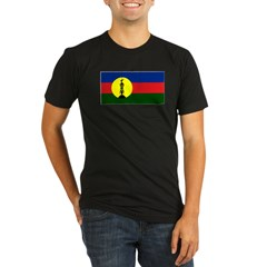 Flag New Caledonia Organic Men's Fitted T-Shirt (dark)
