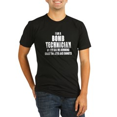 "SharpTee's ""Bomb Technician"" Black Organic Men's Fitted T-Shirt (dark)"