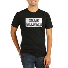 TEAM BRAXTON T-SHIRTS Ash Grey Organic Men's Fitted T-Shirt (dark)