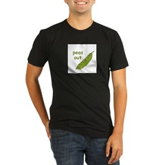 Peas Out... Peace Out! Organic Men's Fitted T-Shirt (dark)