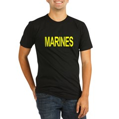 MARINES Organic Men's Fitted T-Shirt (dark)