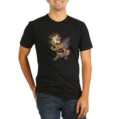 dragon10Black Organic Men's Fitted T-Shirt (dark)