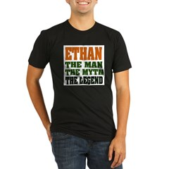 ETHAN - the legend! Organic Men's Fitted T-Shirt (dark)