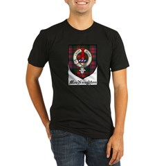 MacNaughton Clan Crest Tartan Organic Men's Fitted T-Shirt (dark)