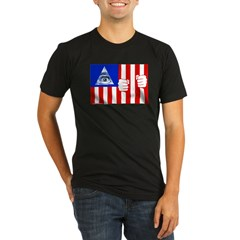 Flag Organic Men's Fitted T-Shirt (dark)